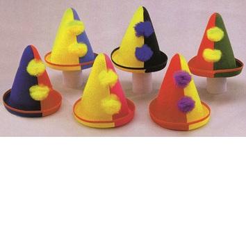 23234 Clownhüte sortiert