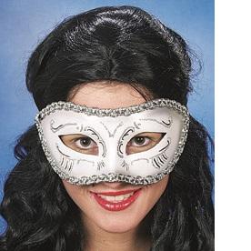 46035 Maske Venedig weiß silber