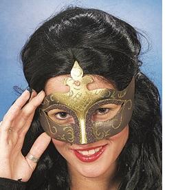 46037 Maske Venedig gold lila