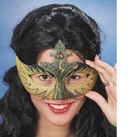 46038 Maske Venedig grün gold