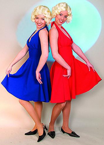 962 Marilynkleid blau,  963 Marilynkleid rot